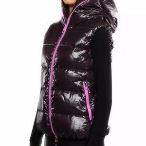 Duvetica designer winter down vest | magenta pink